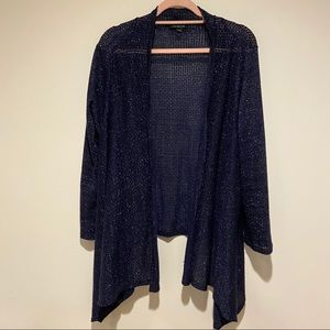 lane bryant navy blue sparkly cardigan size 18/20